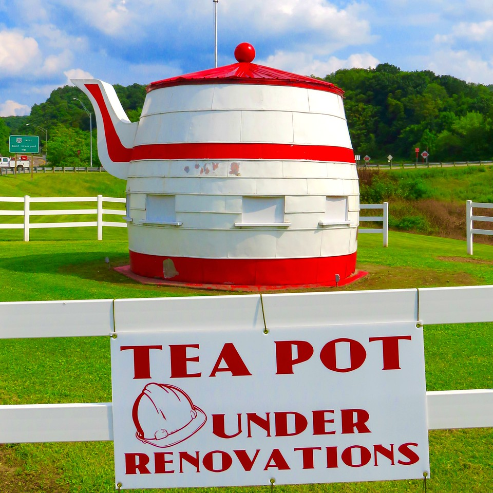 the worlds largest teapot chester wv