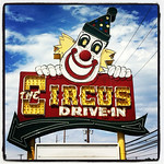 Ate at the clowntastic Circus Drive-In - NJ